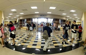 Students fill the halls of Olentangy Liberty High School (AP Photo/Jay LaPrete)