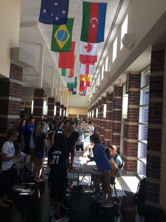 Students roam the busy hallways at Olentangy Liberty HIgh School.