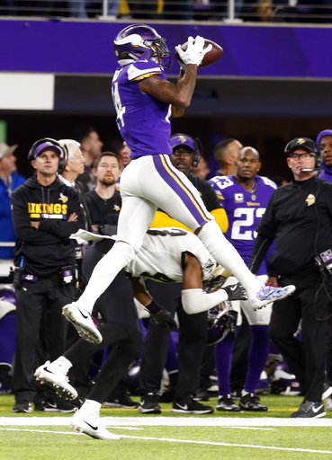 Viking Stefon Diggs' famous catch in 2017's NFC divisional round over Saints free safety Marcus Williams, leading to the game winning touchdown.