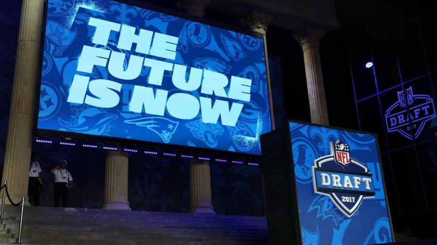 Many+former+college+players+anticipate+hearing+their+name+being+called+by+NFL+commissioner+Roger+Goodell.