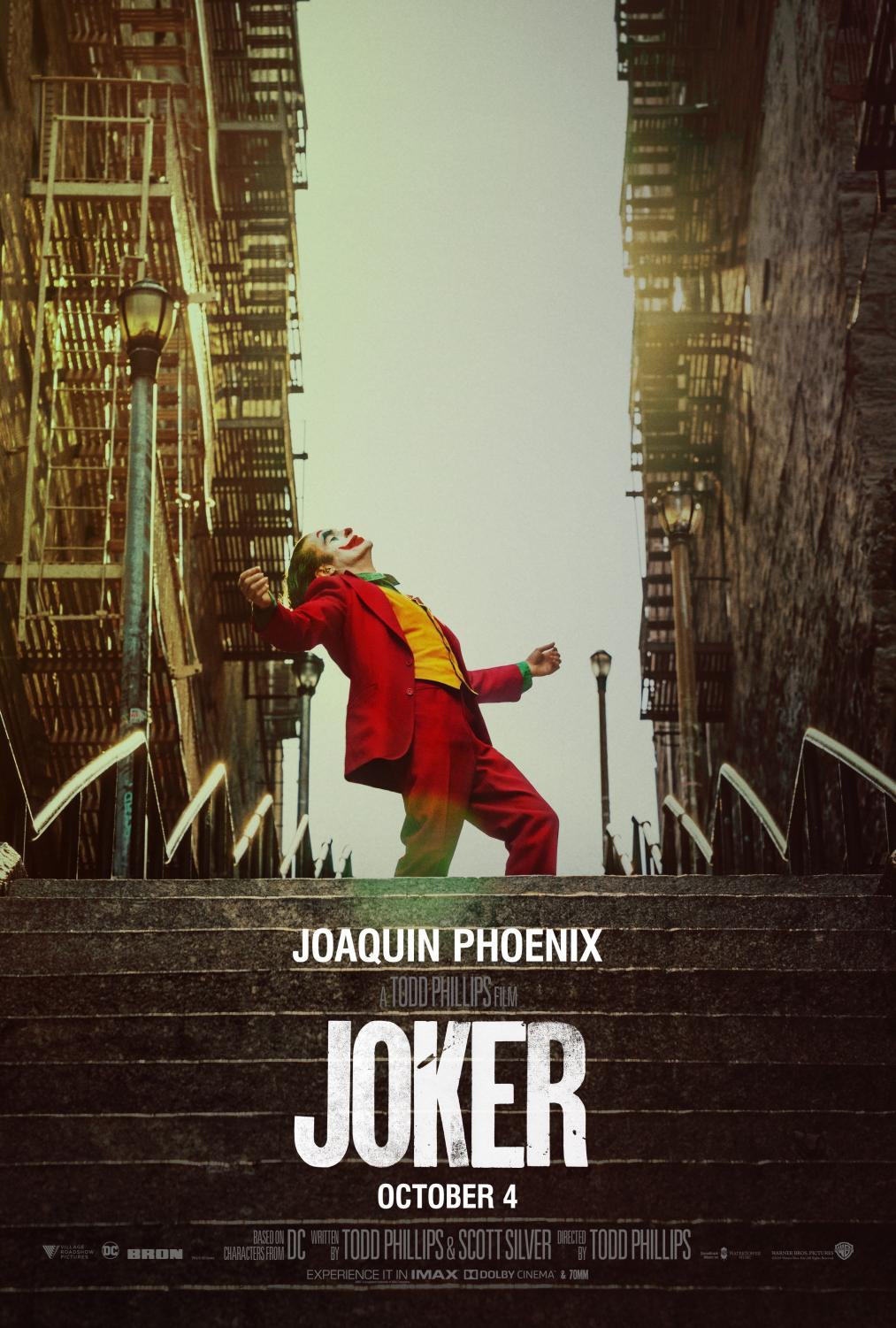 The poster for Joker. After it won the best film award at the Venice Film Festival, Oscar buzz started to surface.