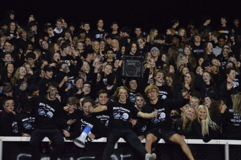 Liberty students at the black out game against Olentangy.