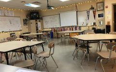 An empty/sad classroom at OLHS
