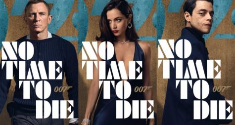"Character posters for the upcoming James Bond film, ""No Time to Die""."