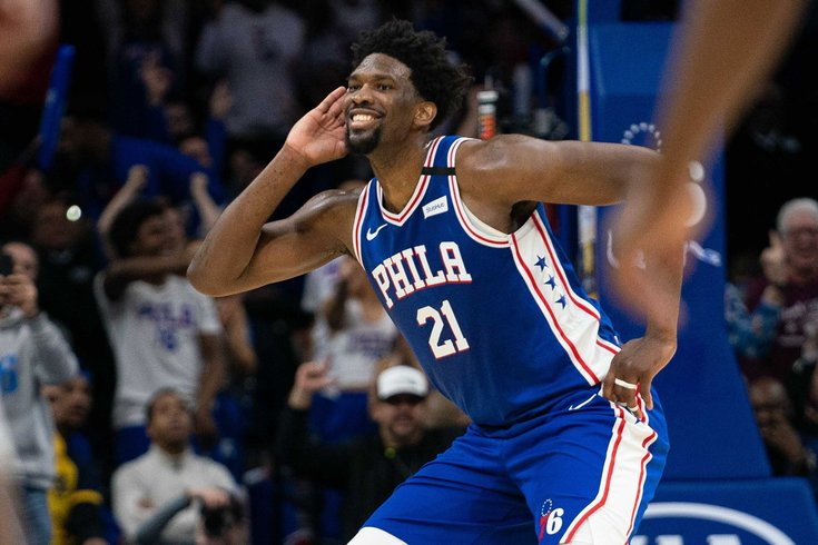 Joel Embiid, the star of the Philadelphia 76ers.